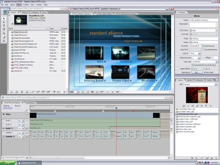 Dvd software gallery pro full for Adobe encore menu templates download free