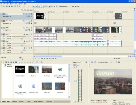 Sony Vegas Platinum Edition 9 0 + All plugins! preview 0